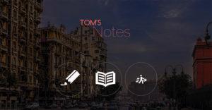 Screenshot der Webseite www.toms-notes.com