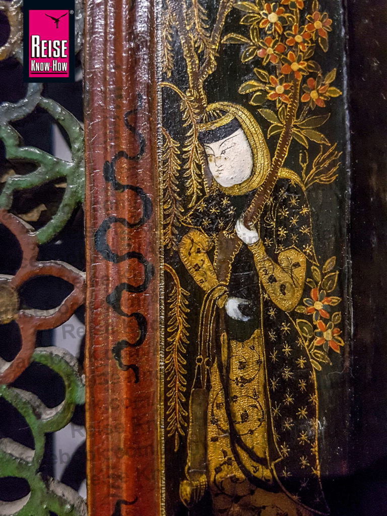 Darstellung eines asiatischen Mannes auf einer Tür, Museum für islamische Kunst Kairo