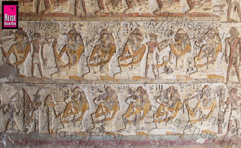 Bankett-Szene im Grab des Paheri in Elkab