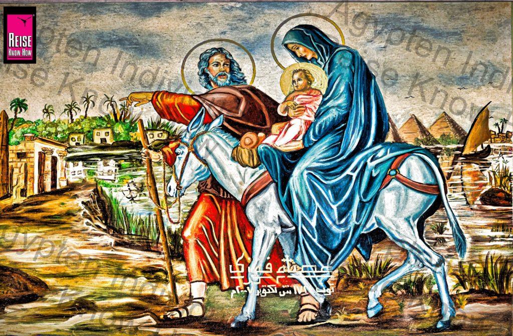 Die Heilige Familie bei ihrer Flucht nach Ägypten