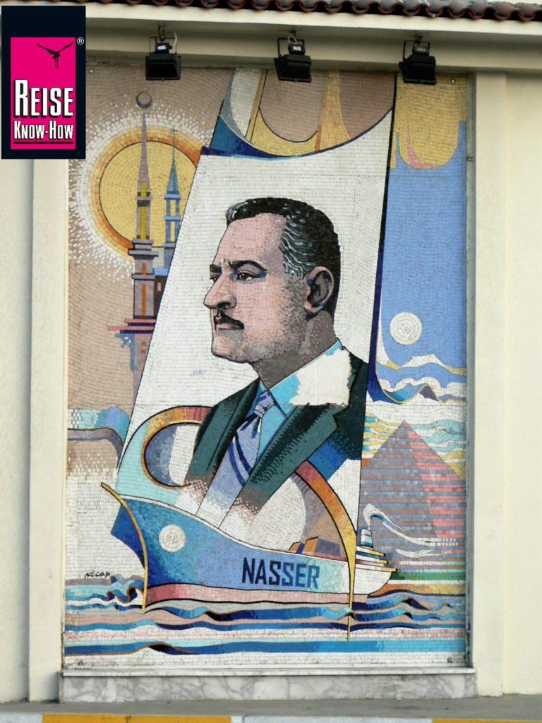 Mosaik von Gamal Abdel Nasser