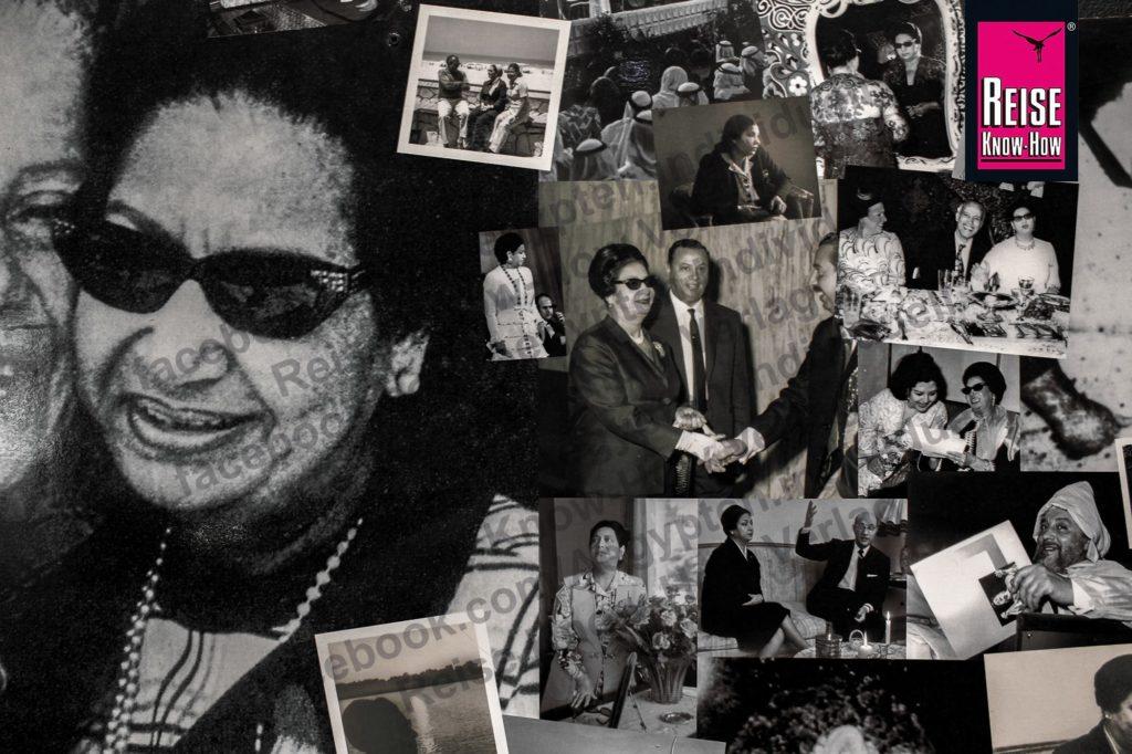 Kollage mit Fotos der Sängerin Umm Kulthum