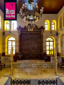 Blick in die Mousa Ibn Maimun Synagoge in Kairo