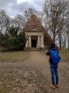Grabpyramide im Landschaftspark zu Machern (bei Leipzig)